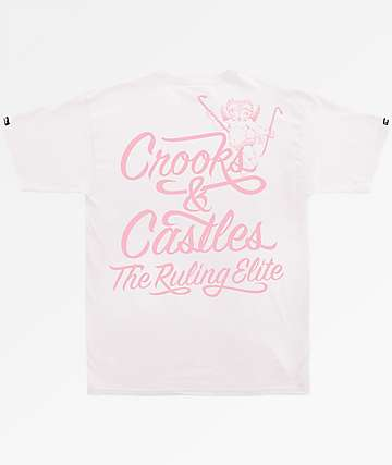 Crooks & Castles Ruler Script White T-Shirt