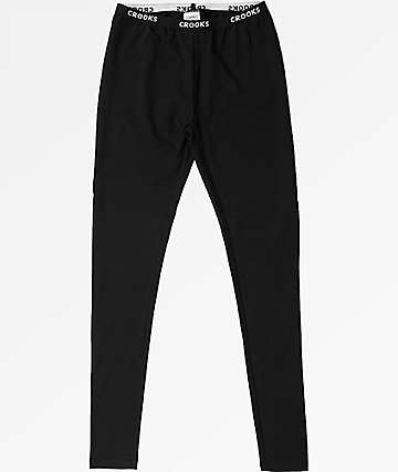 Crooks & Castles Seberg Black Leggings