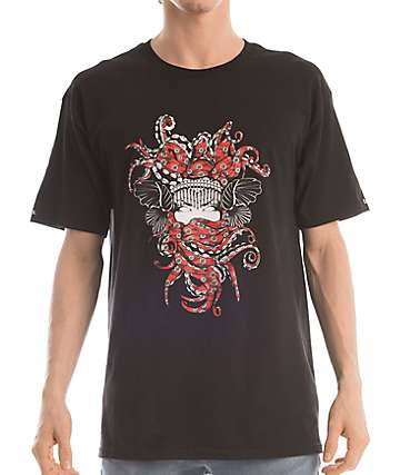 Crooks & Castles Tako Medusa Black T-Shirt