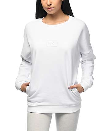 Crooks & Castles Throne Stash White Crew Neck Sweatshirt