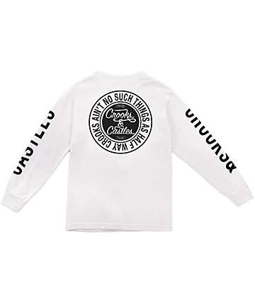Crooks & Castles Ain't No Such White Long Sleeve T-Shirt