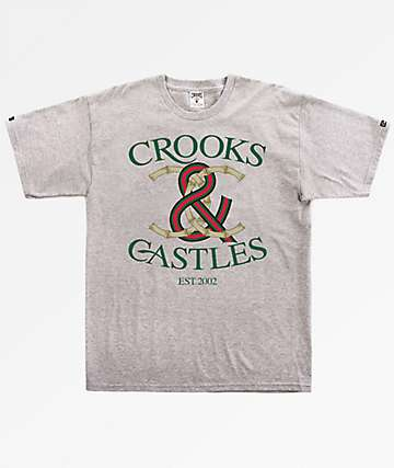 Crooks & Castles Bamboo Lock Grey T-Shirt