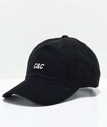 Crooks & Castles C&C Black Strapback Hat