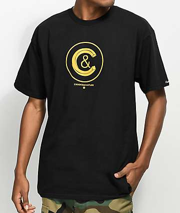 Crooks & Castles Crusher Black T-Shirt