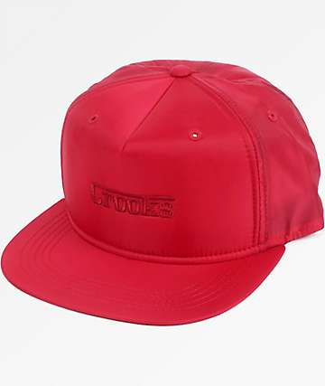 Crooks & Castles F-1 Red Snapback Hat