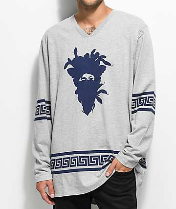 Crooks & Castles Medusa Greca Grey Hockey Jersey