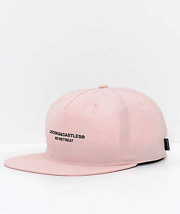 Crooks & Castles No Retreat Pink Strapback Hat