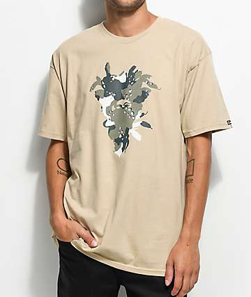 Crooks & Castles Nomad Medusa Tan T-Shirt