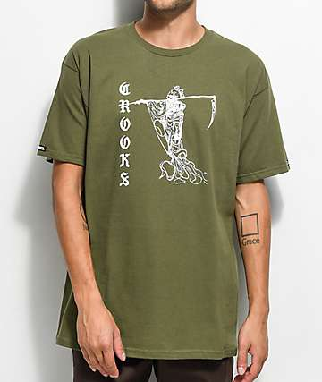 Crooks & Castles Reaper Green T-Shirt