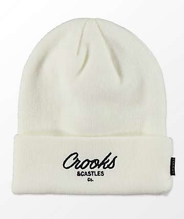 Crooks & Castles Script Bone Beanie