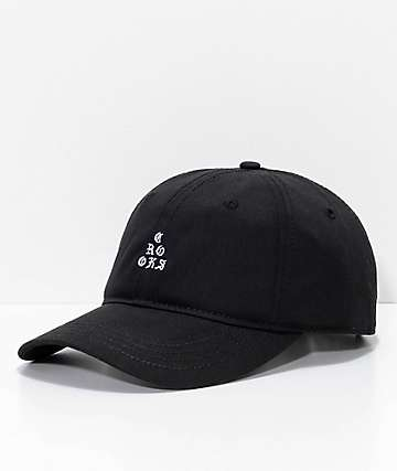 Crooks & Castles Stacked Black Strapback Hat