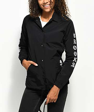 Crooks & Castles Tribute Black Coaches Jacket