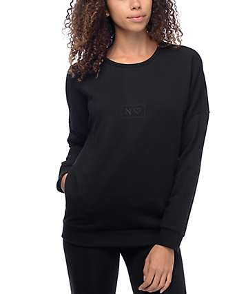 Crooks and Castles Throne Stash Black Crew Neck Sweatshirt
