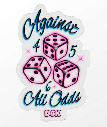 DGK Against All Odds Sticker