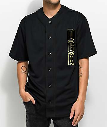 DGK Clutch Black Baseball Jersey