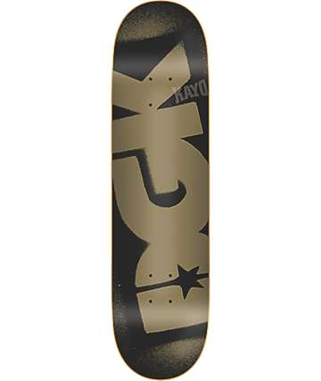 "DGK Logo PP Black & Gold 8"" Skateboard Deck"