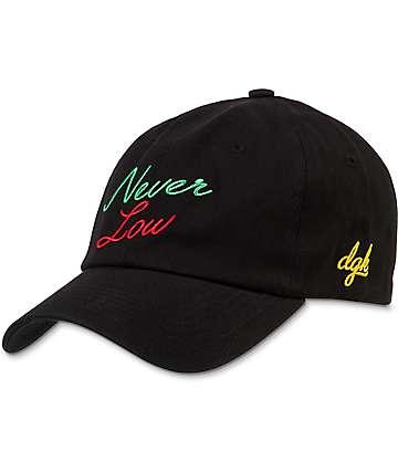 DGK Never Low Black Strapback Hat