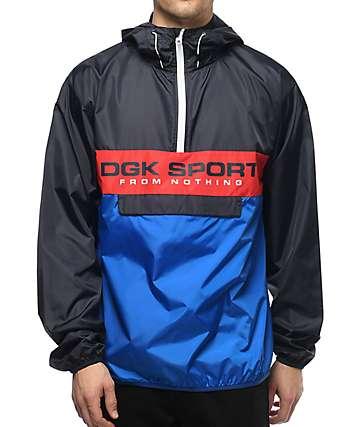 DGK Ruckus Navy & Red Anorak Jacket
