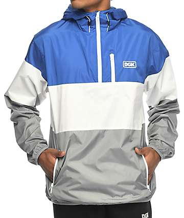 DGK Tri Navy & Blue Windbreaker Jacket