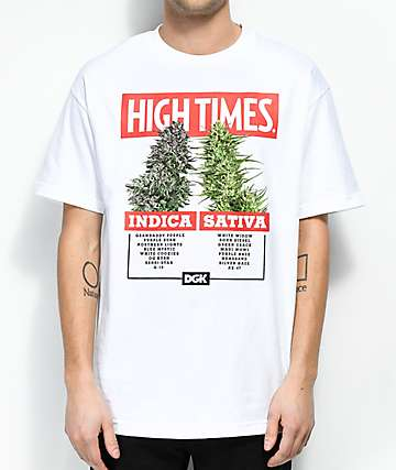 DGK x High Times Options White T-Shirt