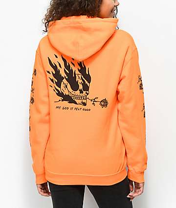 DROPOUT CLUB INTL. x Heavyslime My God Orange Hoodie