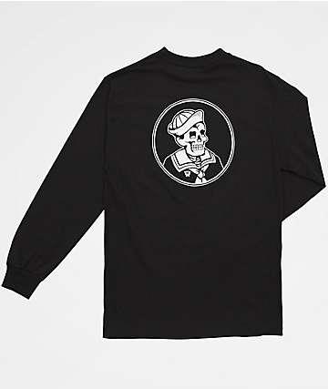 Dark Seas First Mate Long Sleeve Black T-Shirt