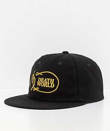 Deathworld Chainstitch Black Strapback Hat