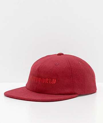Deathworld Continental Ox Blood Felt Strapback Hat