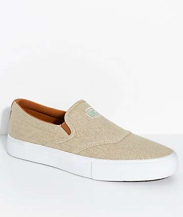 Diamond Supply Co. Boo-J Washed Tan Slip-On Shoes