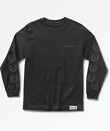 Diamond Supply Co. Brilliant Crest Long Sleeve Black T-Shirt