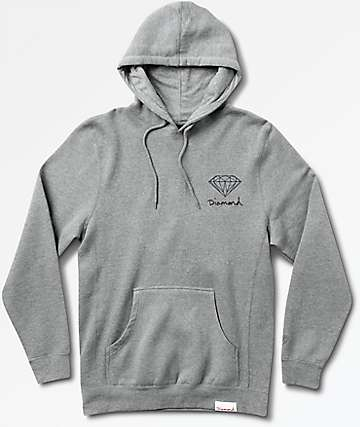 Diamond Supply Co. Brilliant Heather Grey Hoodie