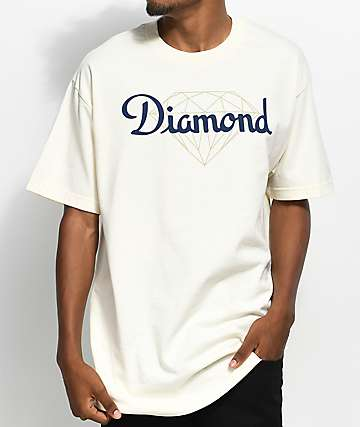 Diamond Supply Co. Champagne Cut Cream T-Shirt