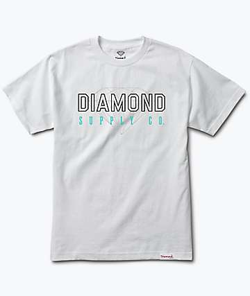 Diamond Supply Co. College White T-Shirt