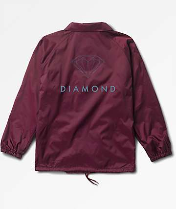 Diamond Supply Co. Futura Sign Burgundy Coaches Jacket