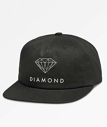 Diamond Supply Co. Futura Sign Unstructured Black Snapback Hat