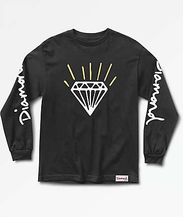 Diamond Supply Co. Gem Long Sleeve Black T-Shirt