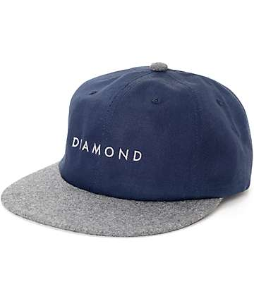 Diamond Supply Co. Leeway Navy Unstructured Snapback Hat