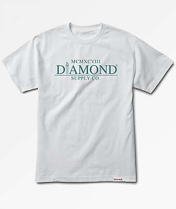 Diamond Supply Co. Mayfair White T-Shirt