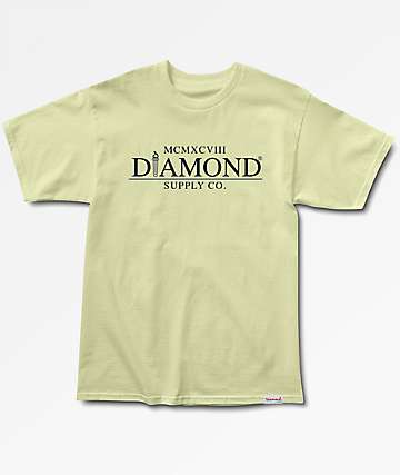 Diamond Supply Co. Mayfair Yellow T-Shirt