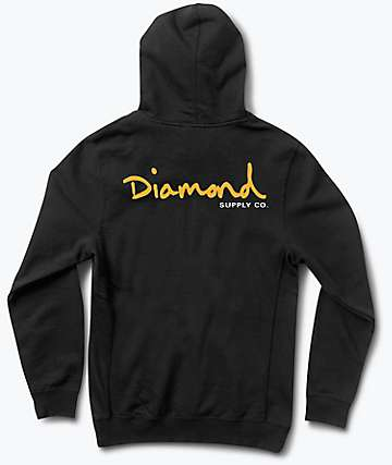Diamond Supply Co. OG Script Black Hoodie