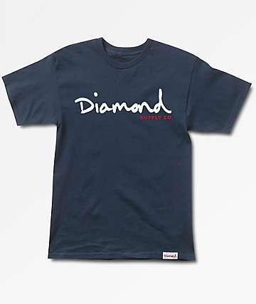 Diamond Supply Co. OG Script Navy T-Shirt