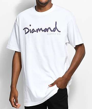 Diamond Supply Co. OG Script White T-Shirt
