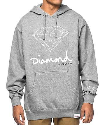 Diamond Supply Co. OG Sign Grey Hoodie
