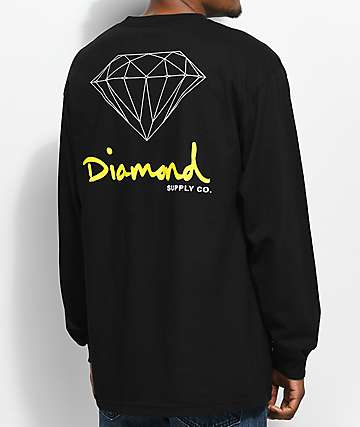 Diamond Supply Co. OG Sign Long Sleeve Black T-Shirt