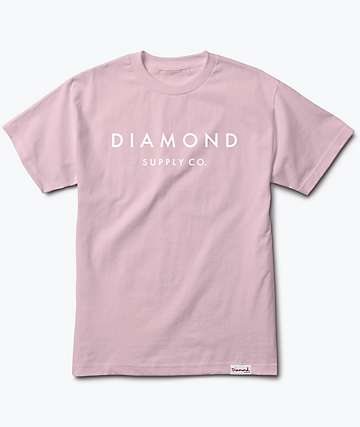 Diamond Supply Co. Stone Cut Pink T-Shirt