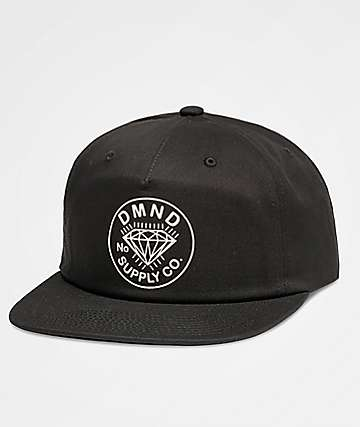 Diamond Supply Co. Trader Black Snapback Hat