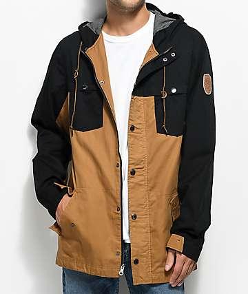 Dravus Hercules Black & Tobacco Twill Jacket