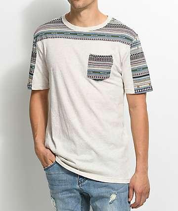 Dravus Packer Jacquard Knit Natural T-Shirt