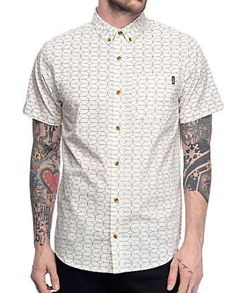 Dravus Sam Off White Woven Shirt