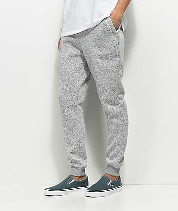 Dravus Unruly Heather Grey Knit Jogger Pants